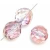 Fire polished 10mm Crystal/half Rose/ Gold Luster
